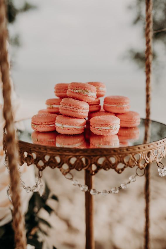 Peach Bellini Macarons