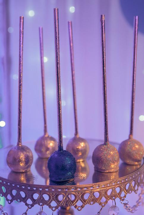 Blue & Silver Glitter Pops