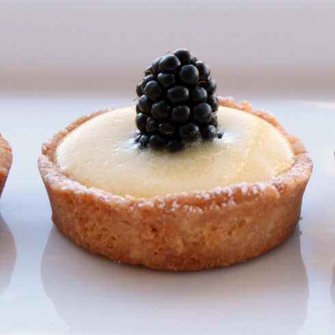 row of tartlets