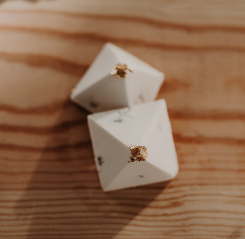 White Chocolate Pyramids