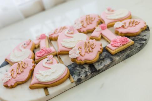 Swan themed cookies