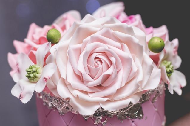Gumpaste Rose, Dogwood and Sugar Buds