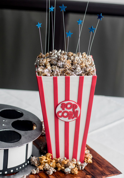 Fun, Yummy Popcorn Cake!