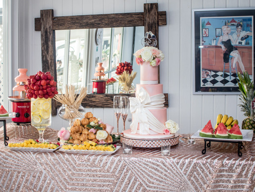 REAL WEDDINGS   Fabric Bows & Bouquets: Just Peachy!