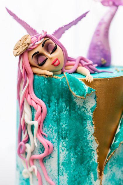 Mermaid themed birthday cake.jpg