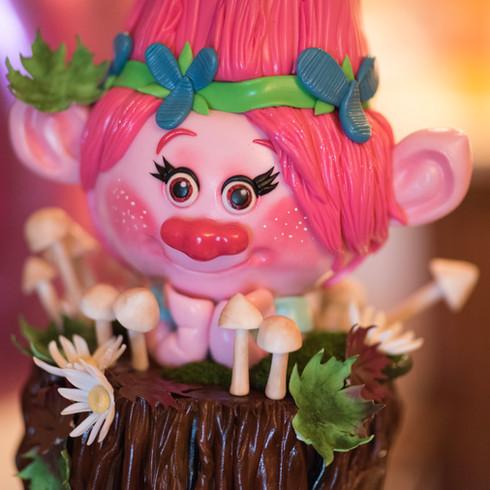Poppy from Trolls  themed birthday cake