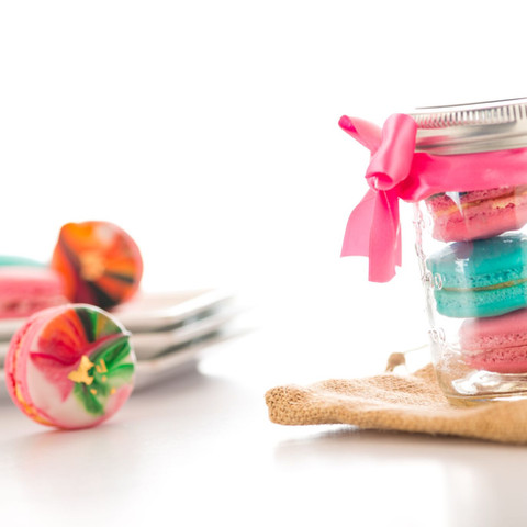 jar of macarons