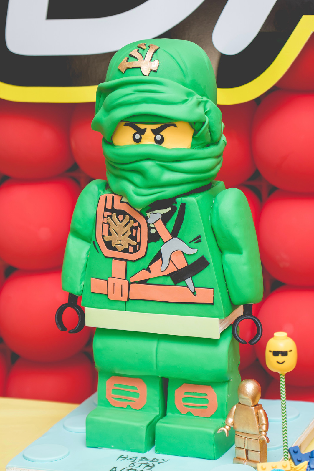 Terrific Standing Ninjago Birthday Cake 3D Sculpted Cake Birthday Cards Printable Opercafe Filternl