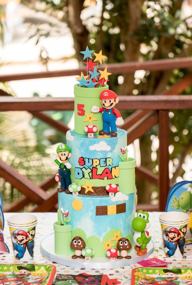 3-tier Super Mario Themed Cake