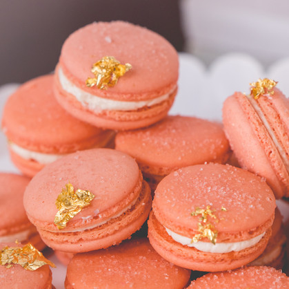 Peach & Gold French Macarons-Order the Bellini in our 72hr store to give this flavor a try!