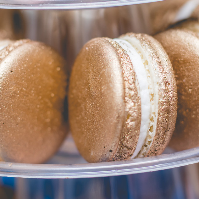 Gold Macarons on Macaron Tower