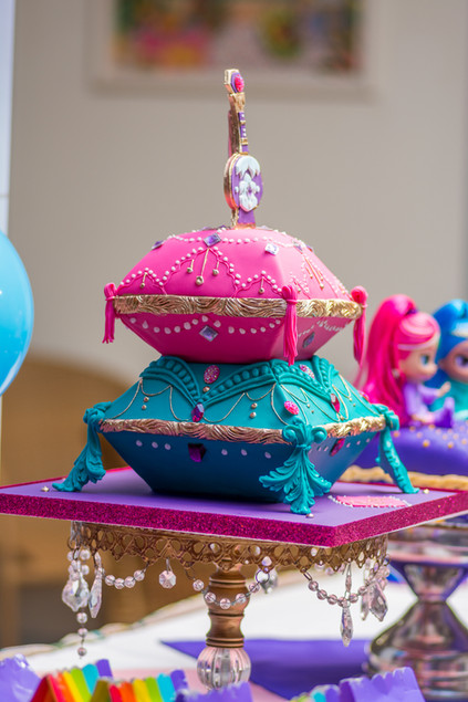 Shimmer and Shine Pillow Themed Birthday Cake