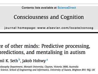 New paper: Predictive processing, mentalizing, and autism