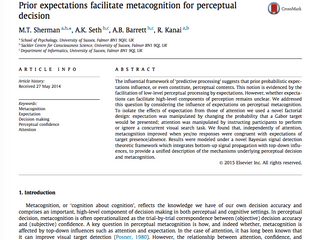 Prior expectations facilitate perceptual metacognition
