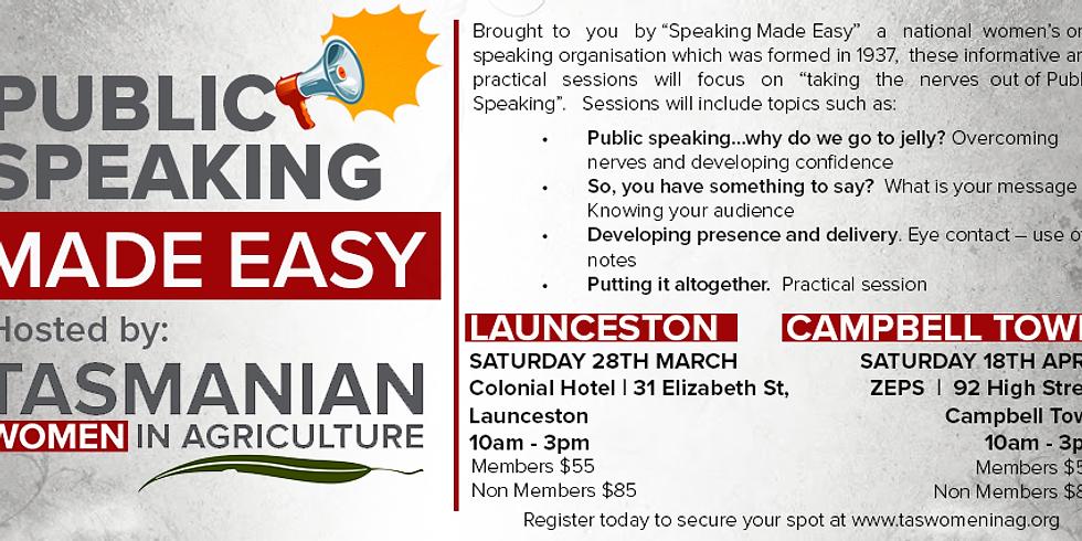 Public Speaking Made Easy - Launceston