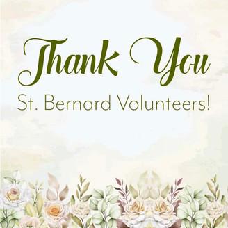 Thank You St. Bernard Volunteers!