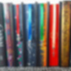 A line up of some of the ribbon bookmark