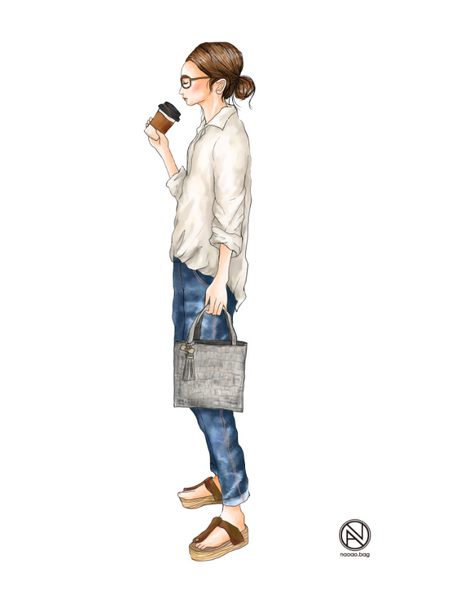 鞄ブランド様広告用イラスト