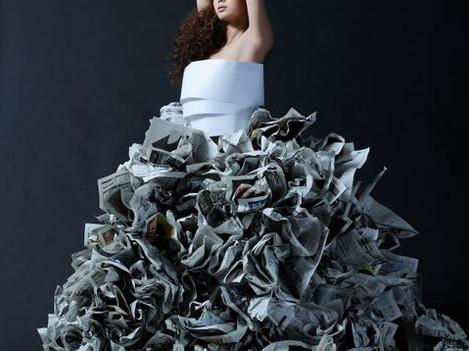Paper dress 雑誌掲載作品