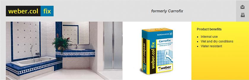 Weber Sodamco Tile Glue supplier in Dubai
