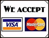 We Accept Credit/Debit Card