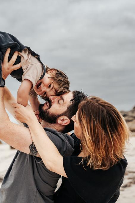 Séance famille à la plage - Ménéham