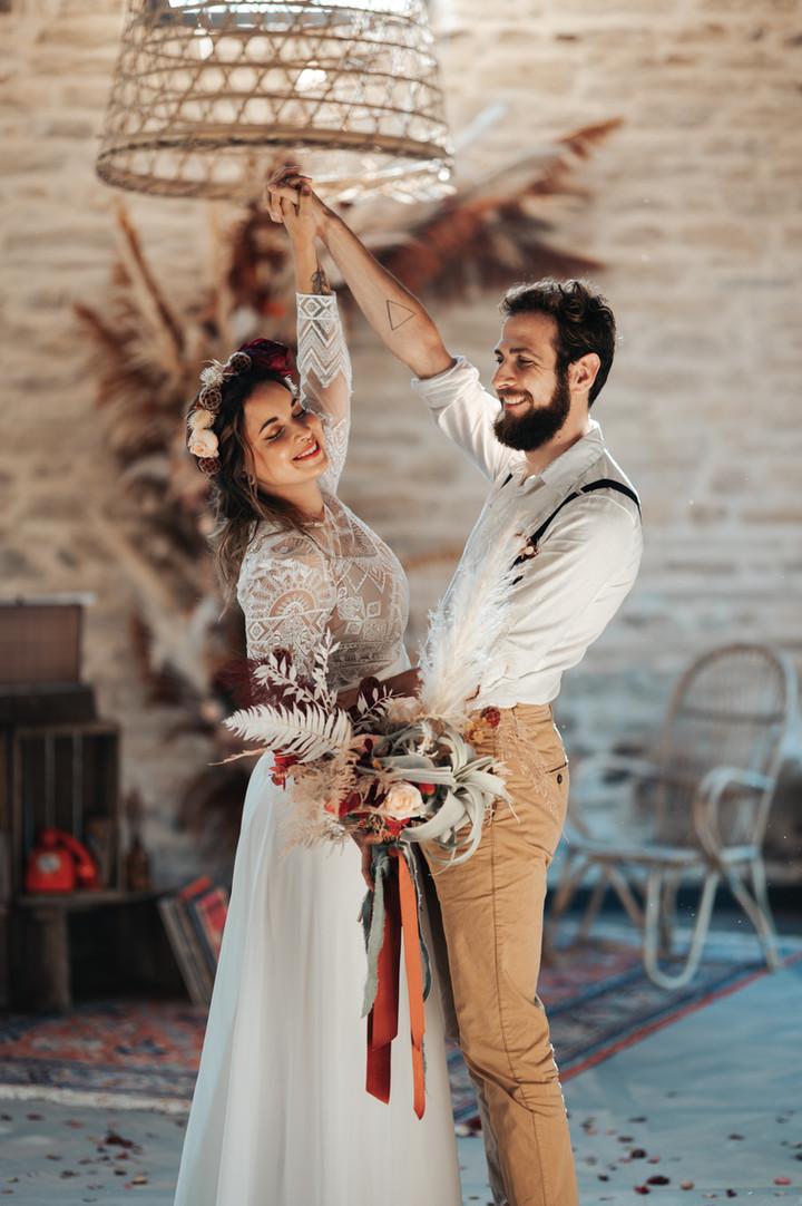 Photographe mariage bohème bretagne