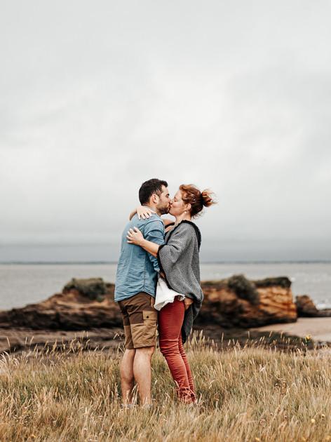 Love session dans le vent