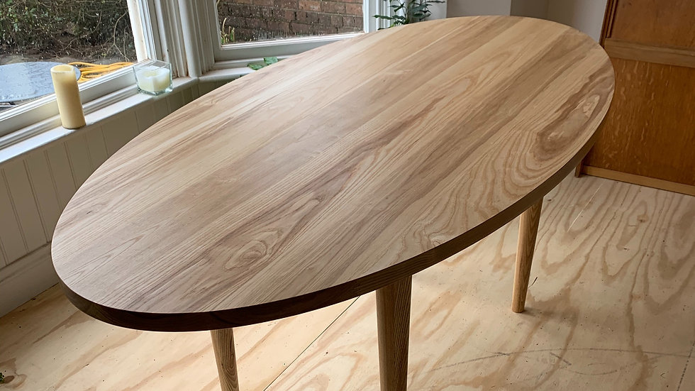 Mid Century Modern Inspired Oval Dining Table