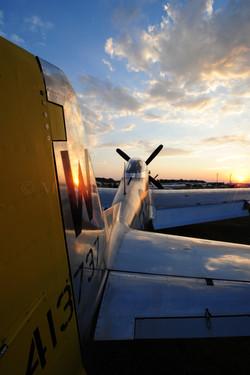 Sunset P-51 Copyright