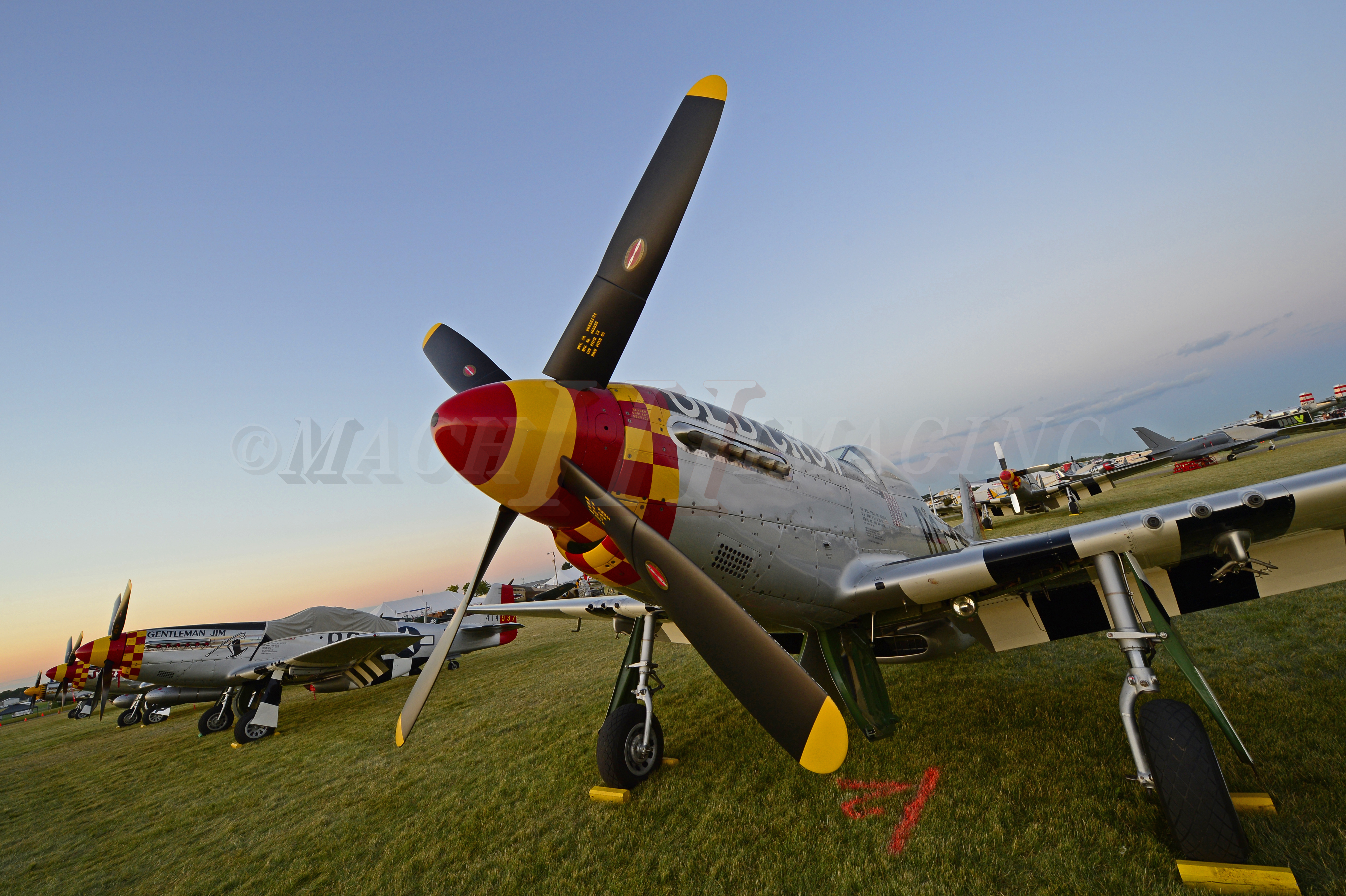 P-51s at Sunset 1 Copyright