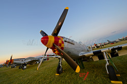 P-51s at Sunset 1 Copyright