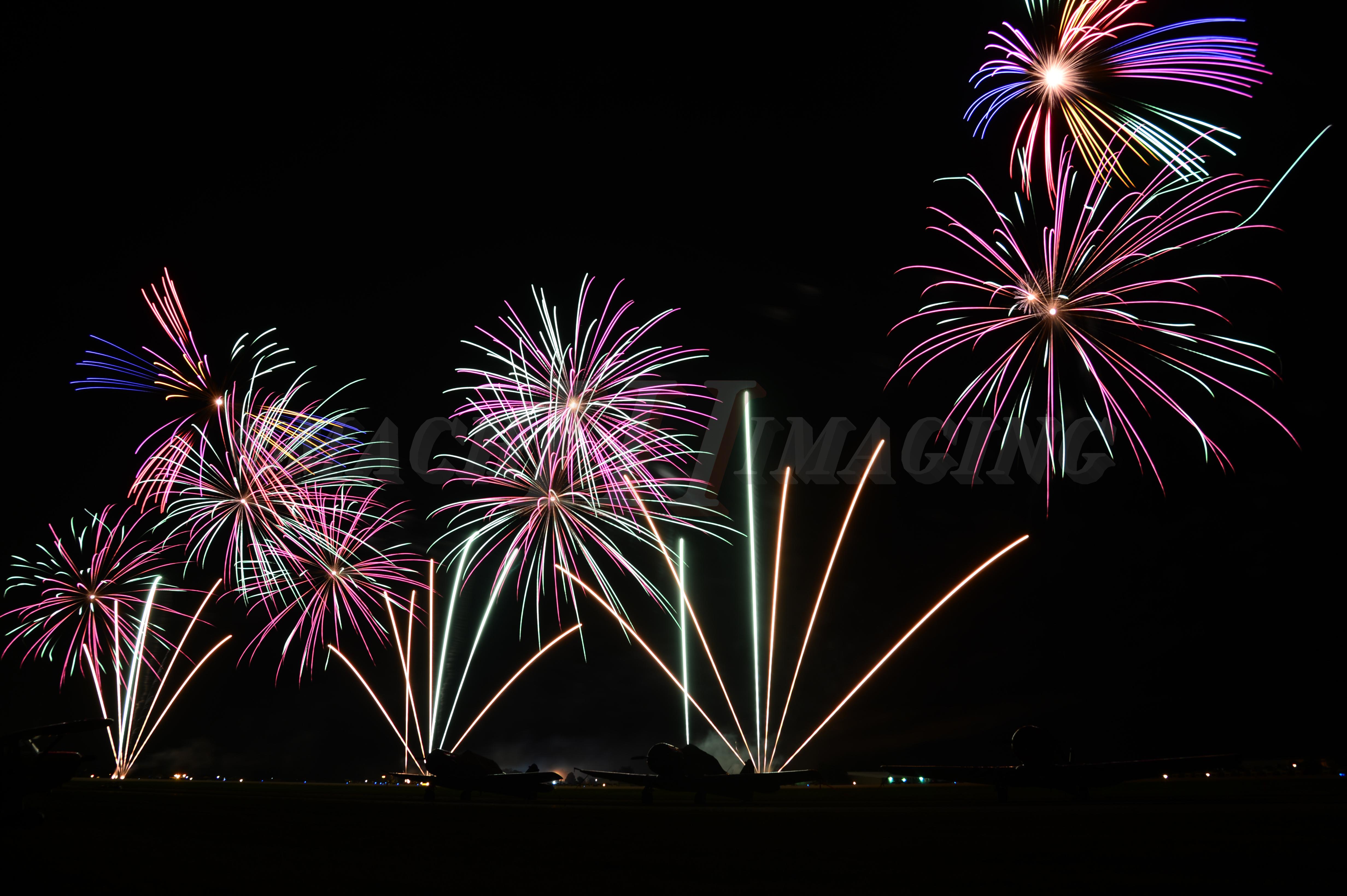 Night AirShow Fireworks Copyright