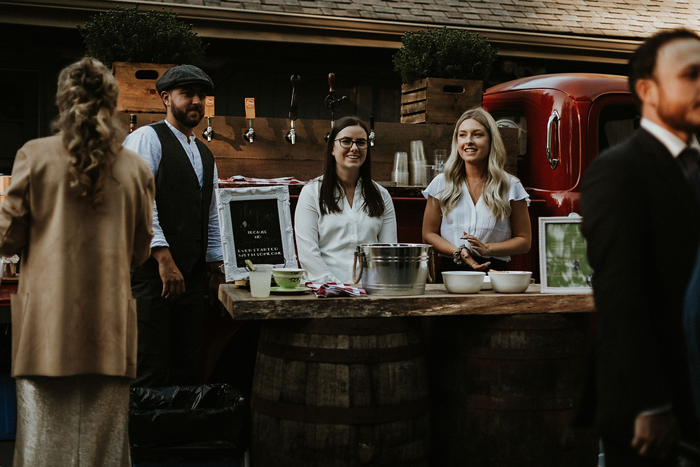 Bartenders in front of Toronto based Beer truck & mobile bar