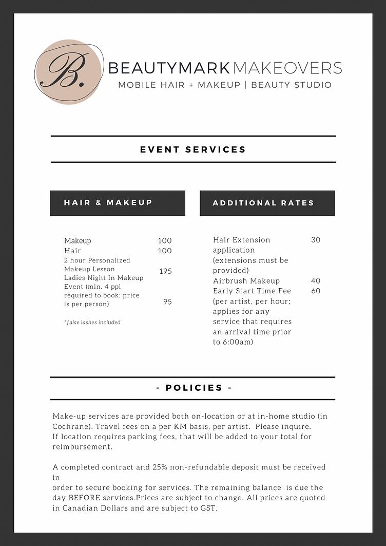 Beautymark Makeovers hair and makeup artist boudoir maternity engagement makeup lessons airbrush makeup Cochrane Calgary Alberta