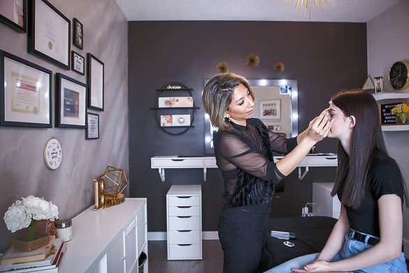 Beautymark Makeovers AHS approved home-based studio mobile hair and makeup artist cosmetic tattoo lash lift and tint