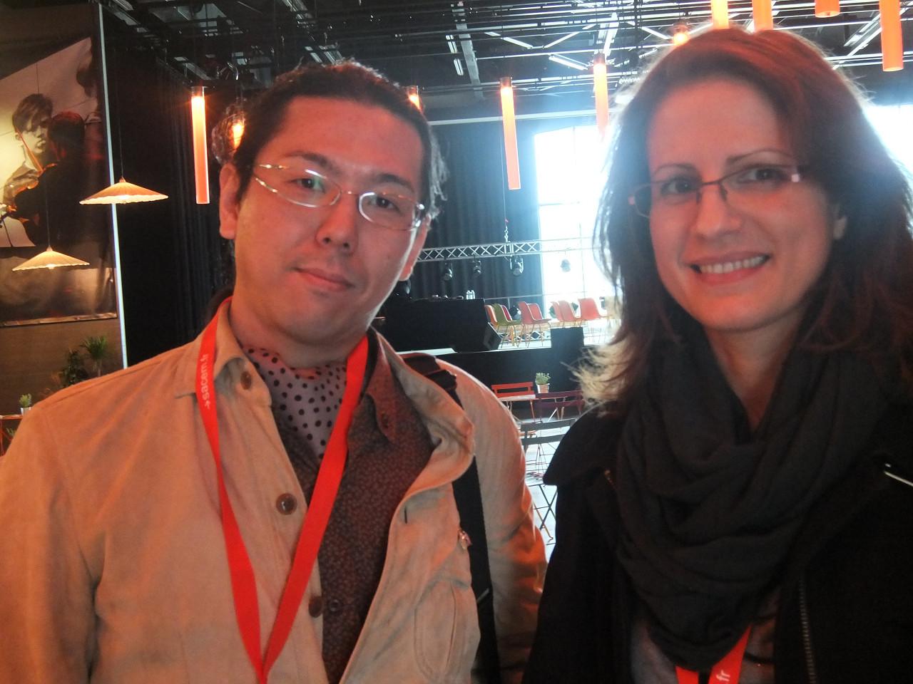 avec la scénariste Carole