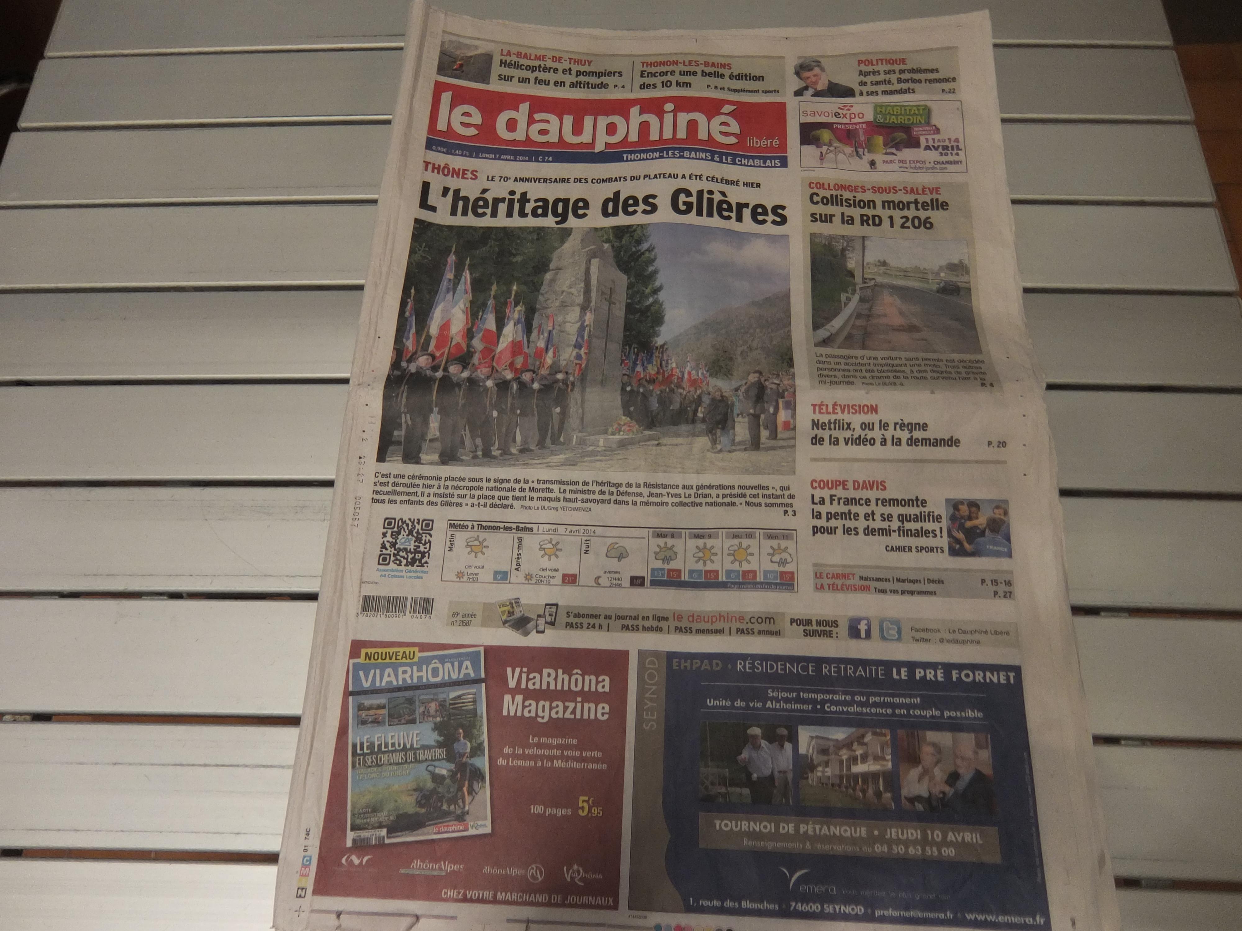 le Dauphiné : journal