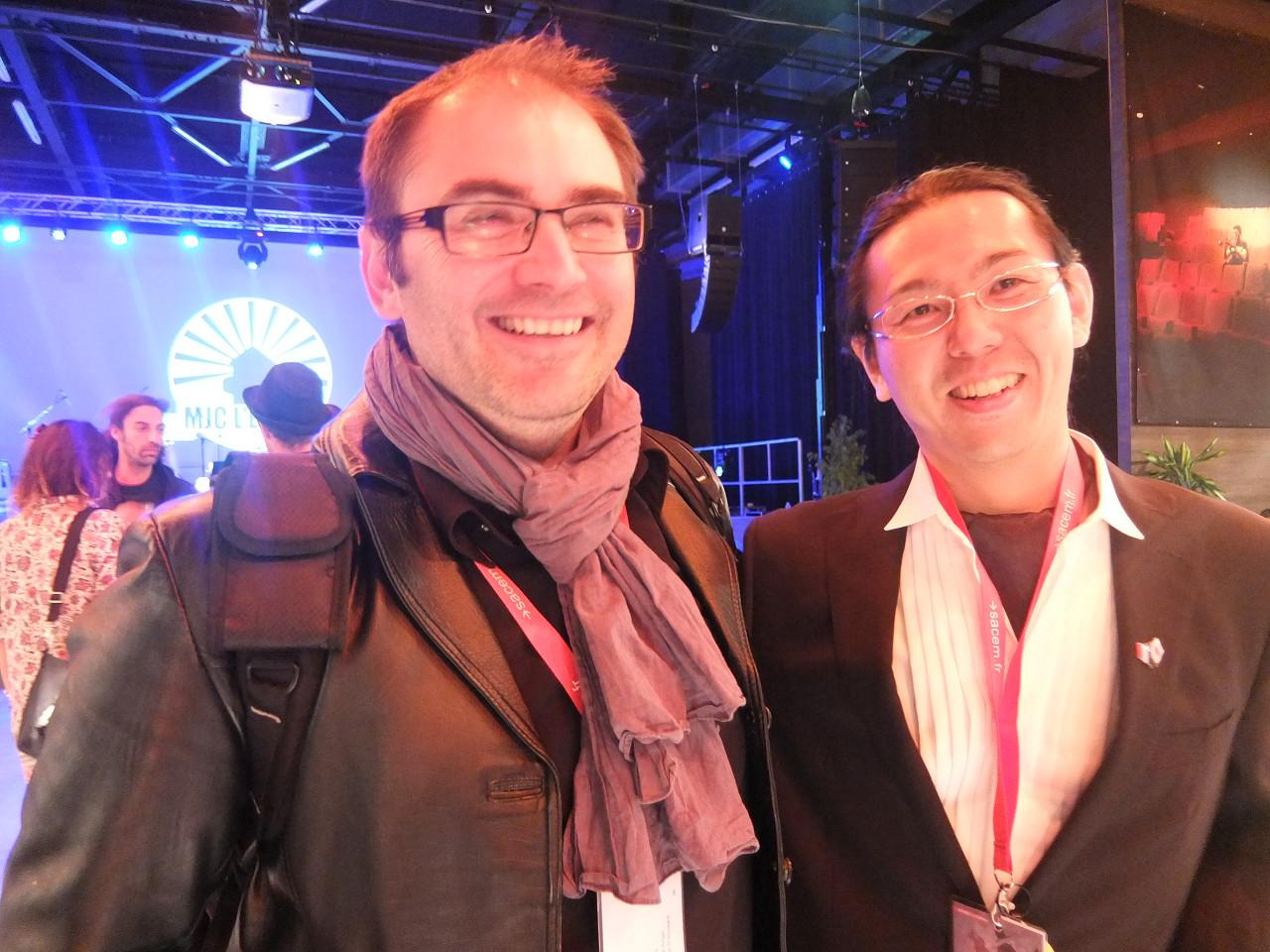 avec mon collégue compositeur Miguel