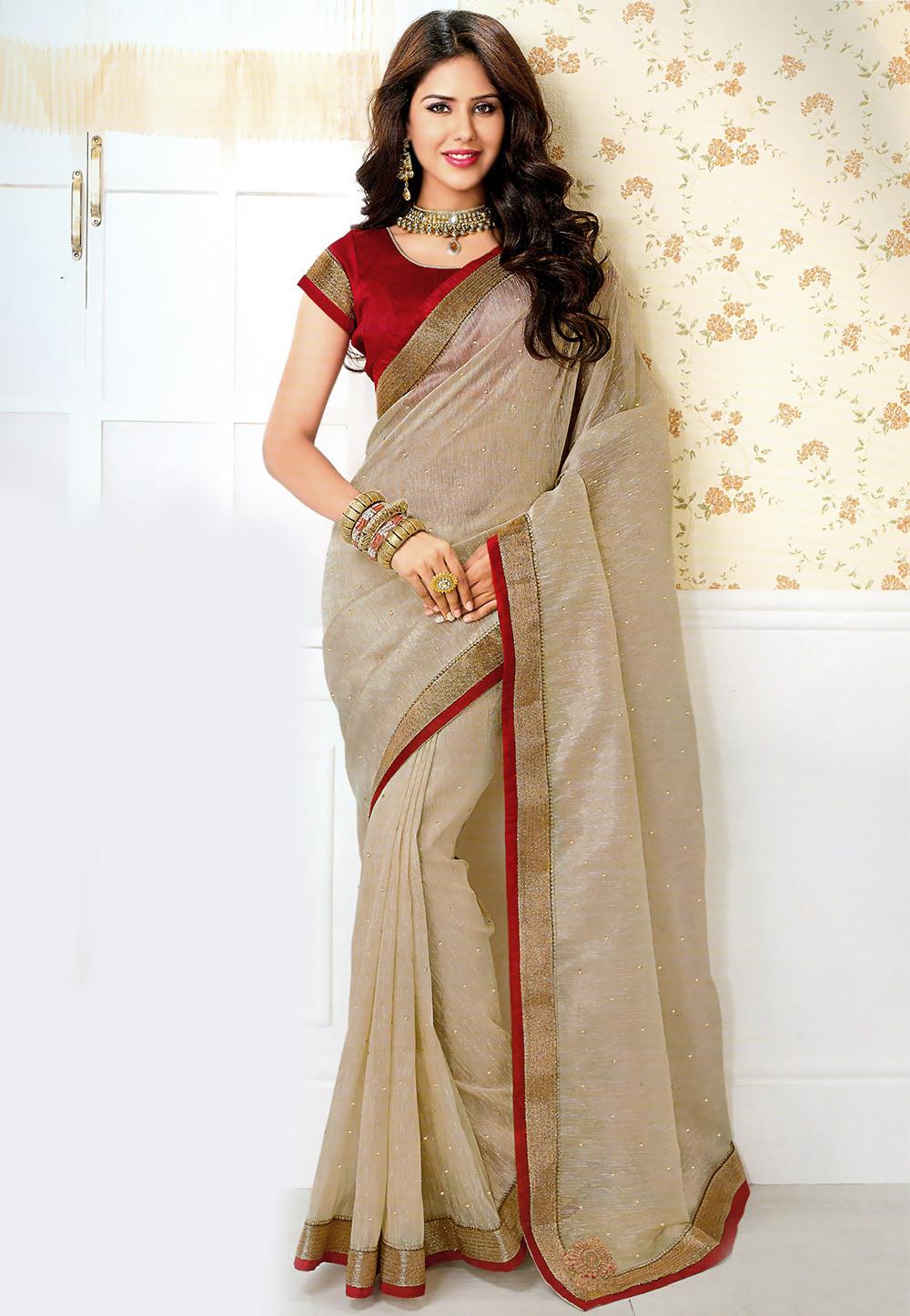 Gorgeous Khadi Saree for a Swadesi Style Fashion