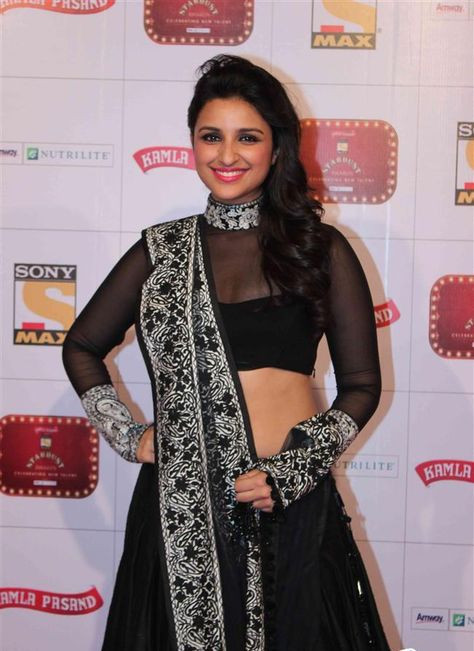 Parineeti Chopra in Black Lehenga