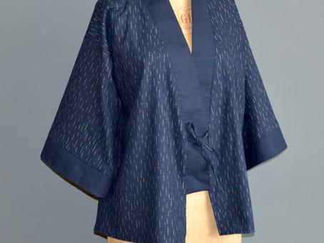 Free pattern and tutorial for the Clara kimono jacket.