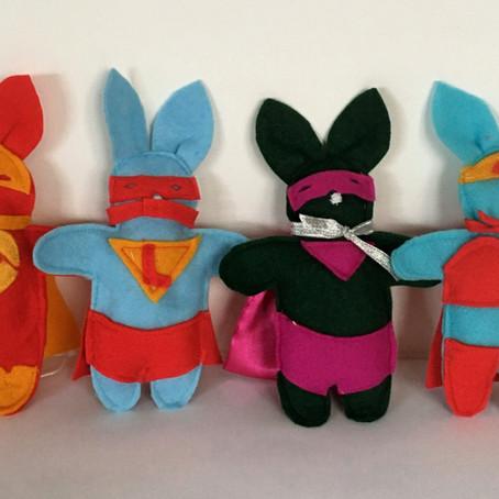 Superhero Easter Bunnies