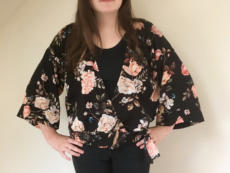 The Rosie Wrap blouse - a free pattern and tutorial.
