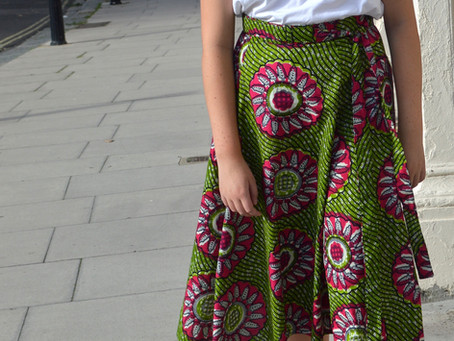 The Willow - A stunning 70's inspired Midi Skirt