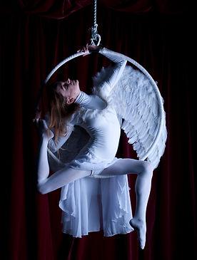 Roxani - Eleni Garefalaki performing on aerial hoop