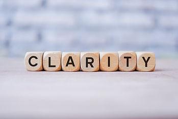 Clarity word written on wood block.jpg