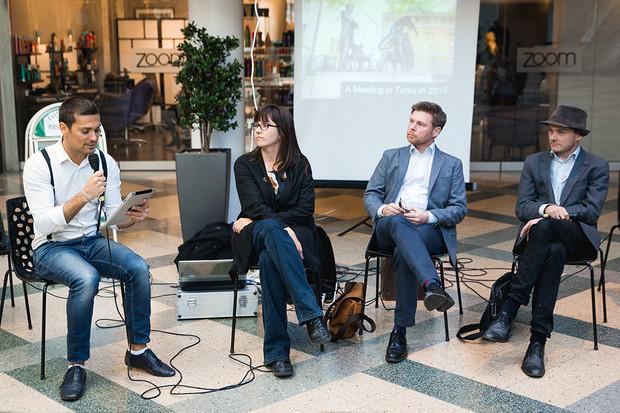 Panel Talk moderated by Marcio Carvalho with Riina Lundman / Panu Savolainen / Tomi Hangisto