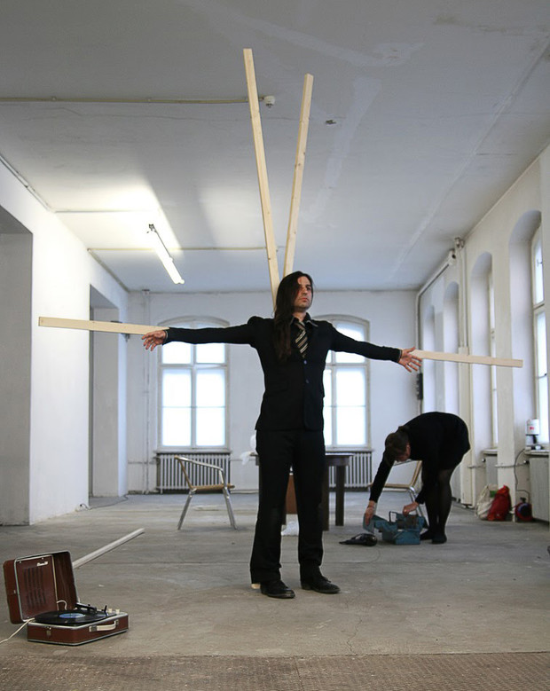 COLAB 5  /  Performance by Leena Kela (Finland) and Tomasz Szrama (Poland)  /  Freies Museum Berlin