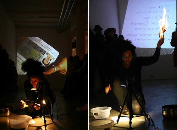 COLAB 7  /  Performance by Nathalie Mba Bikoro (Gabon)  /  Mind Pirates, Berlin